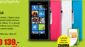 Nokia Lumia 800, tmsn lenstv XBox 360 Live Gold ZDARMA