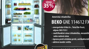 Americk chladnika BEKO GNE 114612 FX za pznivou cenu